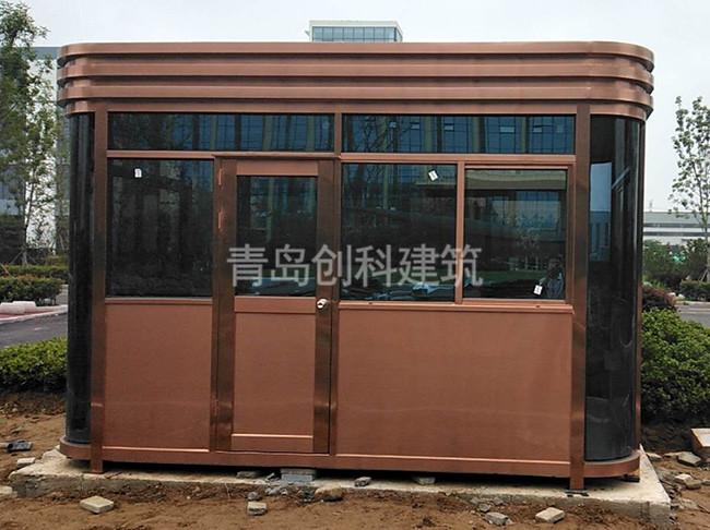 日照东港工业园不锈钢岗亭安装完工